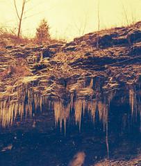 Icicles or teeth? (RansomedNBlood) Tags: winter lomography minolta wv westvirginia dunbar 110film redscale