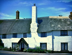 Sanctuary Cottage... (MickyFlick) Tags: england history tourism architecture coast somerset tourist tourists architectural historic coastal historical thatch thatchedroof highstreet touristattraction listed thatched westcountry exmoor listedbuilding porlock thatchedcottage gradeii touristdestination mickyflick