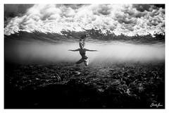 just you, me, & the sea. (SARA LEE) Tags: love hawaii couple underwater bigisland kona underwaterlove sarahlee underwaterphotosession hisarahlee sarahleephoto sarahleephotography