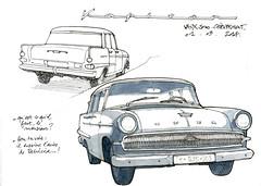 Opel Kapitän (gerard michel) Tags: car sketch opel croquis ancêtre