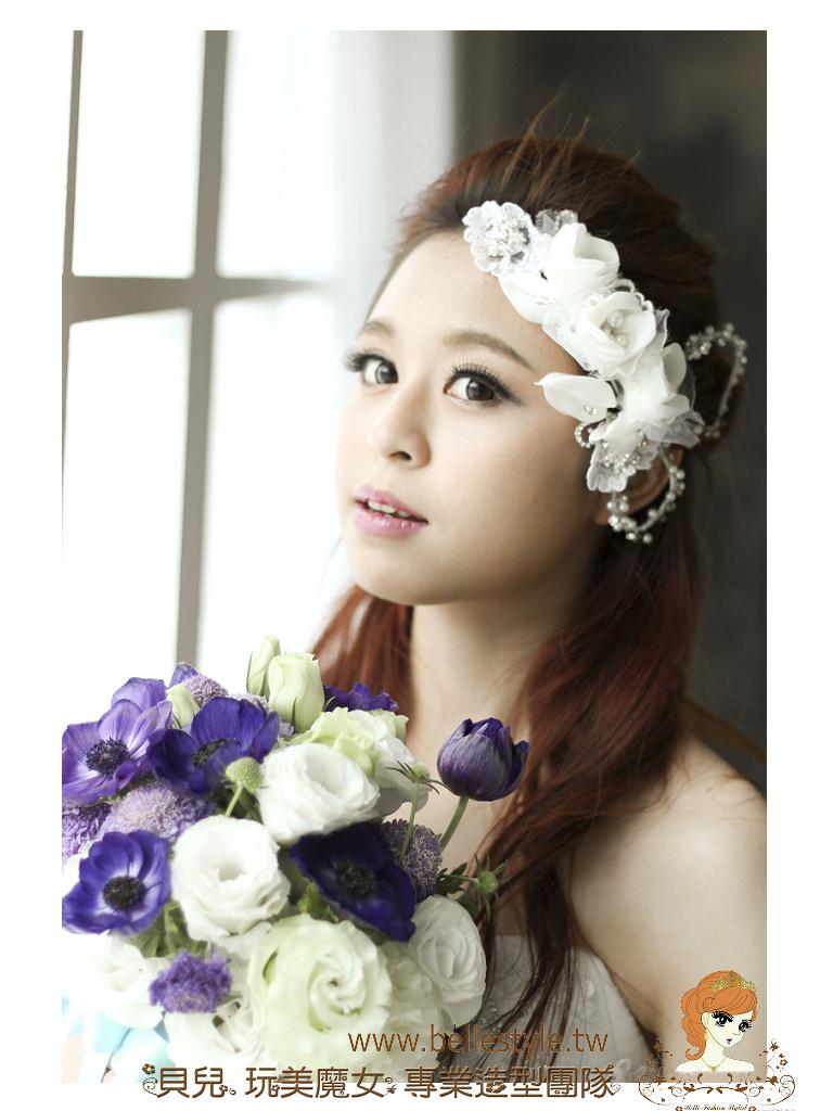 韓式婚紗造型-夢幻絕美 | 造型設計: 林珍卉 貝兒 新秘