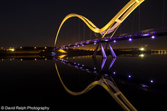 Infinity Reflection (David Relph) Tags: nightphotography night canon river wideangle explore tamron tees rivertees 600d explored infinitybridge davidrelph