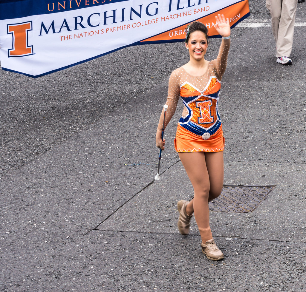 University of Illinois Marching Illini, Illinois, USA - Perform At The St. patrick's Day Parade In Dublin
