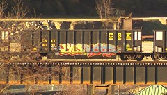 LYES & KEPOS (BLACK VOMIT) Tags: car train graffiti ol south dirty mc dos coal freight wh lyes kbt kepos coalie