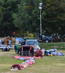 Laid out (errolgc) Tags: newzealand balloon hamilton universityofwaikato balloonsoverwaikato2014 nightglow2014