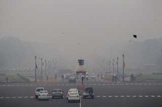 新德里雾霾严重,居民自寻解决之道