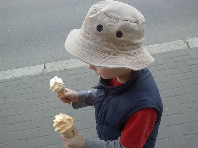 Whcih icecream will the boy eat?
