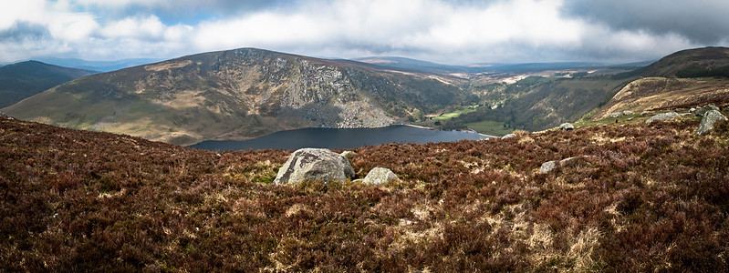 Irlandia, Wicklow NP -- Lough Tay..