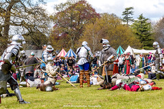 [2014-04-19@15.28.08a] (Untempered Photography) Tags: history costume fight helmet battle medieval weapon sword knight combat armour reenactment skirmish combatant chainmail canonef50mmf14 perioddress polearm platearmour gambeson poleweapon mailarmour untemperedeye canoneos5dmkiii untemperedeyephotography glastonburymedievalfayre2014