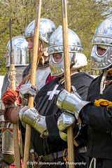 [2014-04-19@15.24.09a] (Untempered Photography) Tags: history costume helmet battle medieval weapon knight armour reenactment combatant chainmail spear canonef50mmf14 perioddress polearm platearmour poleweapon mailarmour untemperedeye canoneos5dmkiii untemperedeyephotography glastonburymedievalfayre2014