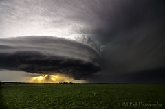 Sunset Supercell (JM Bell Photography) Tags: thunderstorm supercell kansasthunderstorm kansassupercell