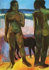 Deux Tahitiennes sur la plage (P Gauguin)