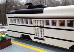 MOC: Kansas City PCC 551 Streetcar (eurotrash48903) Tags: lego tram kansascity unionstation streetcar pcc moc 8wide