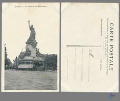PARIS - La Statue de la République (bDom [+ 3 Mio views - + 40K images/photos]) Tags: paris 1900 oldpostcard cartepostale bdom