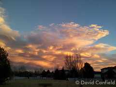 February 6, 2015 - A Spectacular Sunset from Broomfield