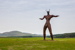 Wickerman Surfing Scotland (oliemackeral) Tags: statue landscape scotland surfing wicker