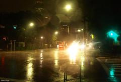 Typhoon night traffic (DameBoudicca) Tags: auto street car rain japan tokyo evening abend calle lluvia strada pluie voiture coche bil gata  nippon  shiba soir rue pioggia  macchina japon giappone regen regn nihon typhoon sera tokio japn    taifun kvll strase tyfon    hibiyadori