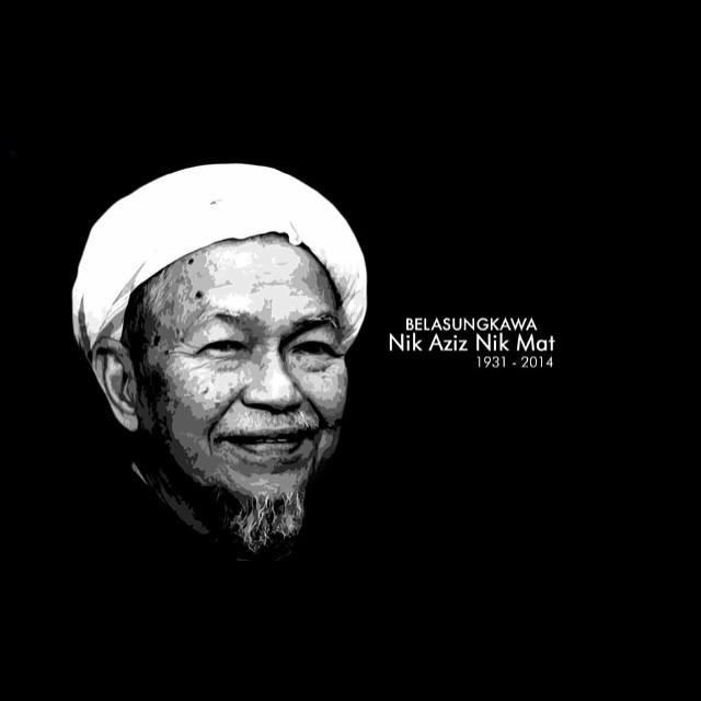 Perginya seorang ulama terhebat. Tuan Guru Nik Aziz. Al Fatihah. #TGNA