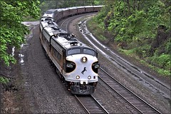 Time Machine (Images by A.J.) Tags: railroad classic car train vintage office pennsylvania ns norfolk rail railway special southern passenger