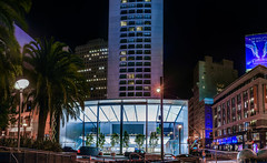 apple flagship store opens (pbo31) Tags: sanfrancisco california city urban panorama color apple retail night shopping dark evening store spring nikon may large panoramic bayarea unionsquare stitched flagship stocktonstreet poststreet 2016 boury pbo31 d810
