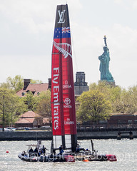 Emirates Team New Zealand, America's Cup World Series 2016, New York (jag9889) Tags: park newzealand usa water sport statue race river island boat newjersey jerseycity sailing unitedstates yacht outdoor unitedstatesofamerica nj sailors competition landmark hudsonriver bermuda statueofliberty americascup immigration challenger waterway gardenstate ellisisland libertyisland worldseries libertystatepark louisvuitton defender ladyliberty bartholdi sailingboat missliberty lsp hudsoncounty 2016 newyorkharbor fredericaugustebartholdi auldmug jag9889 20160508 americascupnewyork2016