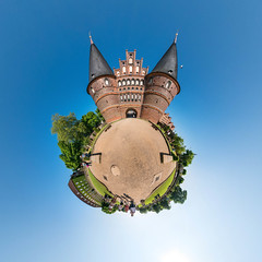 Holstentor (HamburgerJung) Tags: panorama germany deutschland panasonic planet lbeck walimex holstentor stereographic hugin littleplanet gm5