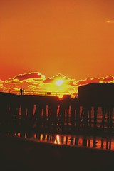 Sunset on the Atlantic (M.J.H. photography) Tags: sunset sun beach evening pier spring waves atlantic shore ocena