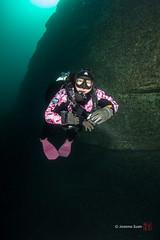 Dufferin Wall (ScubaJo) Tags: scuba scubadiving drysuit tobermory underwaterphotography coldwaterdiving fathomfivenationalmarinepark ontariodiving drysuitdiving