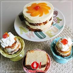 Bolo de Leite em P e Pssegos (Almanaque Culinrio) Tags: food recipe comida gastronomia culinria receita