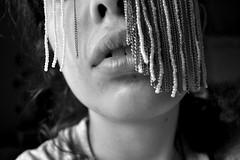 cyber lips (Vittoria Lazzeri) Tags: portrait bw white black self hair nose monocromo lips bn bianco nero naso labbra