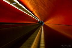 Travolator, Paris Metro (Paul Perton) Tags: street urban paris france fuji metro streetphotography x100t