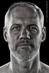 Colin Davis - Producer, based Chicago (2-16) (james m barrett) Tags: portrait male beard intense handsome desaturated maleportrait harshbeautiful
