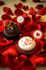 Wishful Day - Valentine Set 2015 - with rose leaf (Saravut - Viewfinder) Tags: christmas cute festival set studio table dessert photography sweet bokeh celebration cupcake photograph bakery celebrate saravutviewfinder