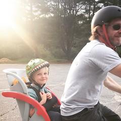 149/366 (grilljam) Tags: spring seamus bikes saturdaynight graham helmets iphone 4yrs 366days may2016