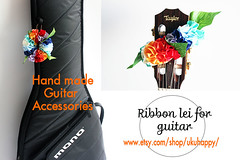 rainbow-g- (yooheeahn) Tags: mono rainbow ukulele guitar hawaiian acoustic taylorguitar guitarstrap ribbonlei etsygifts