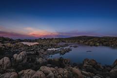 night sets on Watson lake (TAC.Photography) Tags: sunset arizona clouds nightsky redsky bluehour prescott watsonlake settingsun otherworldly granitedells