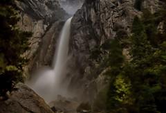 no moonbow (Marc Crumpler (Ilikethenight)) Tags: california trees mist mountain yosemitefalls water night canon waterfall 24105mmf4l nightshot yosemite 6d canon6d