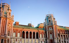 Caricino Palace (Andrew Goldman) Tags: life old city travel blue summer sky people moon building castle love beautiful beauty wonderful photography see evening photo amazing russia walk moscow awesome go great like palace structure best follow we enjoy capture share magnificent qw iful