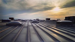 On top of my roof at my Costco. (rudy rodriguez jr) Tags: rooftop settingsun
