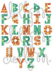 ethnicalphabet (venelopedoll) Tags: cute design letters font alphabet ethnic
