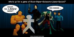 PopFig: R-P-S-L-S (JD Hancock) Tags: startrek comics fun funny webcomics lol thing lizard spock marvel geeky edwardscissorhands photocomics thebigbangtheory jdhancock popfig