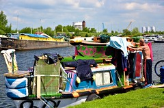 A Work In Progress (violetchicken977) Tags: streetphotography houseboat bodyart goole