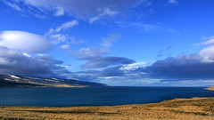 if you need to predict the weather look at the clouds (lunaryuna) Tags: sky panorama seascape weather clouds season landscape coast iceland spring shore coastline fjord lunaryuna cloudscape siglufjordur lenticularclouds unaryuna northiceland lightmood northfjords seasonalwonders harbingerofstorm