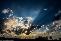 Crepuscular Rays (Dan's Storm Photos & Photography) Tags: sunset sky sun nature weather clouds skyscape landscape landscapes sunsets skyscapes sunrays crepuscularrays crepuscular
