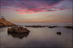 Sunset (antoniocamero21) Tags: costa color marina wow foto sony girona nubes catalunya brava aigua rocas xelida