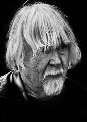 Portrait (D80_441421) (Itzick) Tags: man face blackbackground copenhagen denmark goatee candid d800 bwportrait hairstyleformen itzick