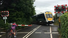 NIR CAF 3005, Springfarm AHB, 1st of July 2016 (nathanlawrence785) Tags: green train crossing class level service ni lc translink railways 3000 caf portrush nir antrim dm2 3005 dmu ahb springfarm c3k culnafeigh