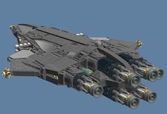 Hellburner (Cagerrin) Tags: digital 3d lego designer space system spaceship rider ldd starfighter ridership