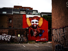 RED (Ian Livesey) Tags: street red portrait streetart manchester photography northwest photos