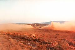 IDF Show off time (Normann Photography) Tags: 1992 fntjeneste idf lebanon libanon unifil unitednationsinterimforceinlebanon dust patrulje patruljetjeneste berghoz nabatieh lb cloud staubwolke dry middle east